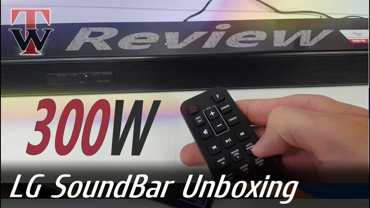 Lg 300w Sound Bar Unboxing Review