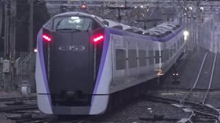 今度のダイヤ改正で運行が終了し残り5日となった、火花を散らし東京駅へ向かった特急「あずさ」2号。