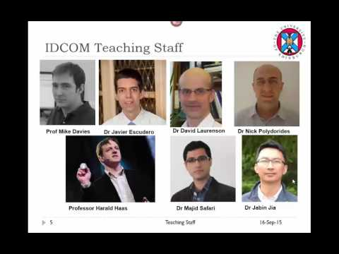 MSc Signal Processing and Communications Induction Talk 2015
