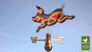 Gd608p Whimsical Pig Weathervane Polished Copper