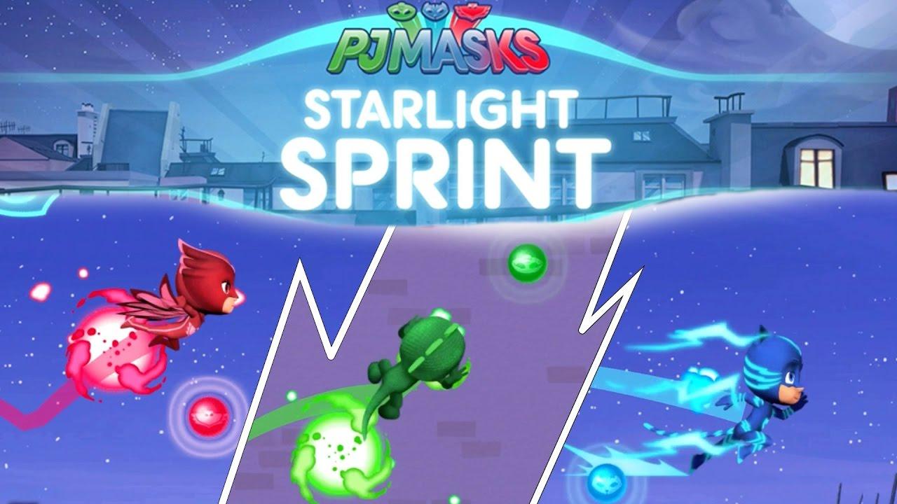 new pj masks starlight sprint ipad game disney junior youtube