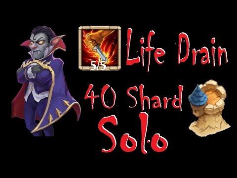 Castle Clash - Vlad Dracula 5 Life Drain - Solo 40shard Dungeon