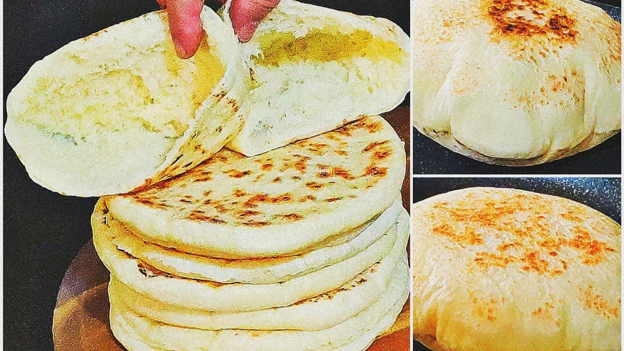 """خبز ساهل وسريع منفوخ و فارغ من الداخل للفنيانات 😘 دون دلك دون تعب خبز يهنيك من كلمة """"مكاش الخبز"""""""