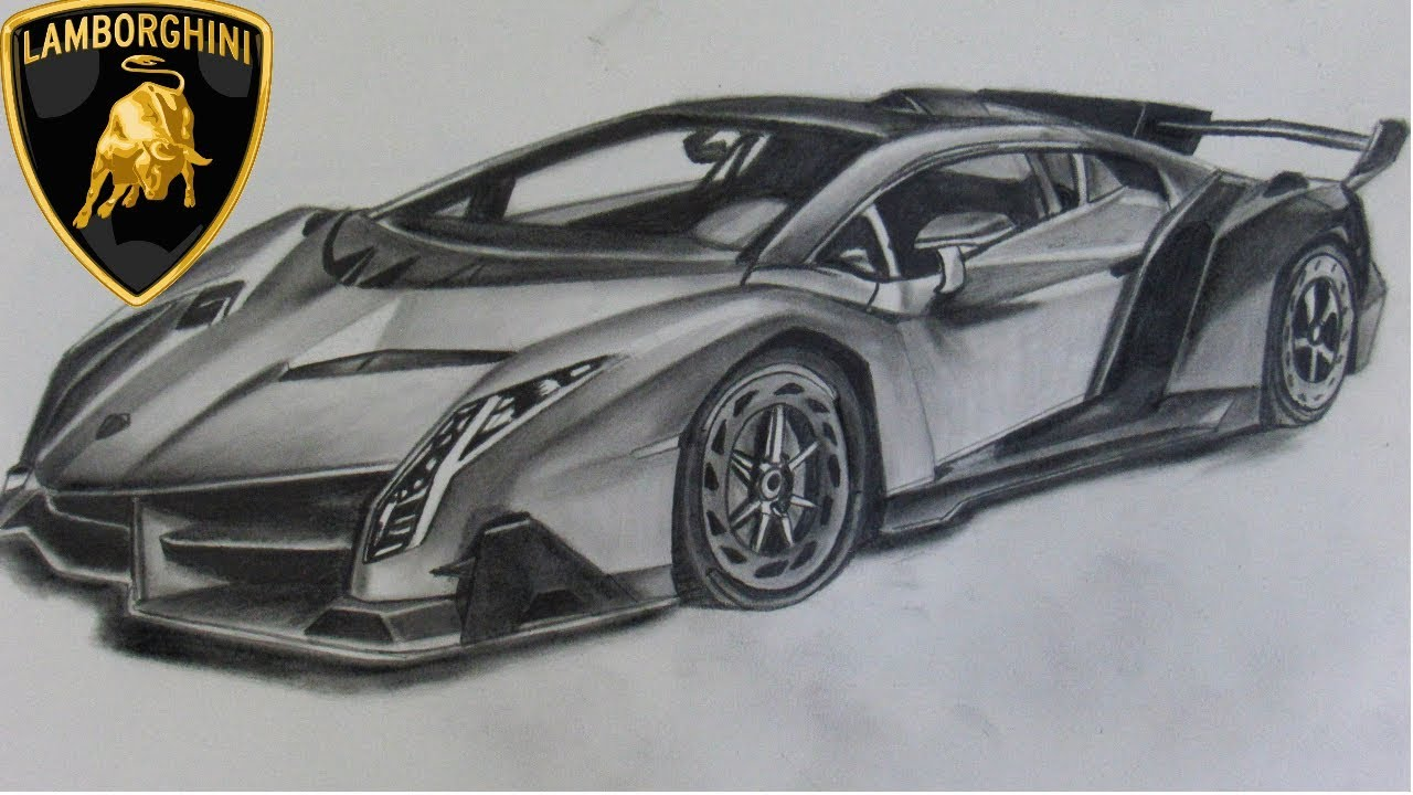 Drawing Lamborghini Veneno Dibujando El Lamborghini Veneno
