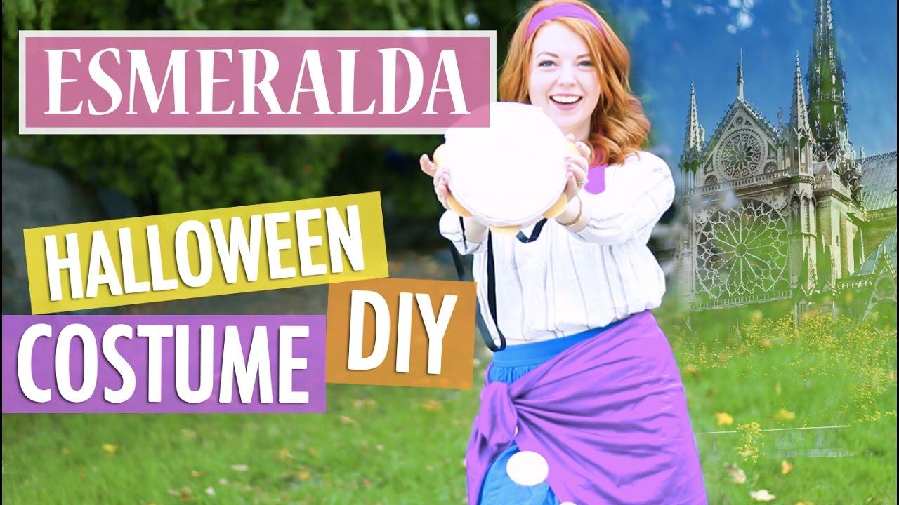 DIY Esmeralda Halloween Costume Disney  sc 1 st  YouTube & DIY Esmeralda Halloween Costume Disney - YouTube