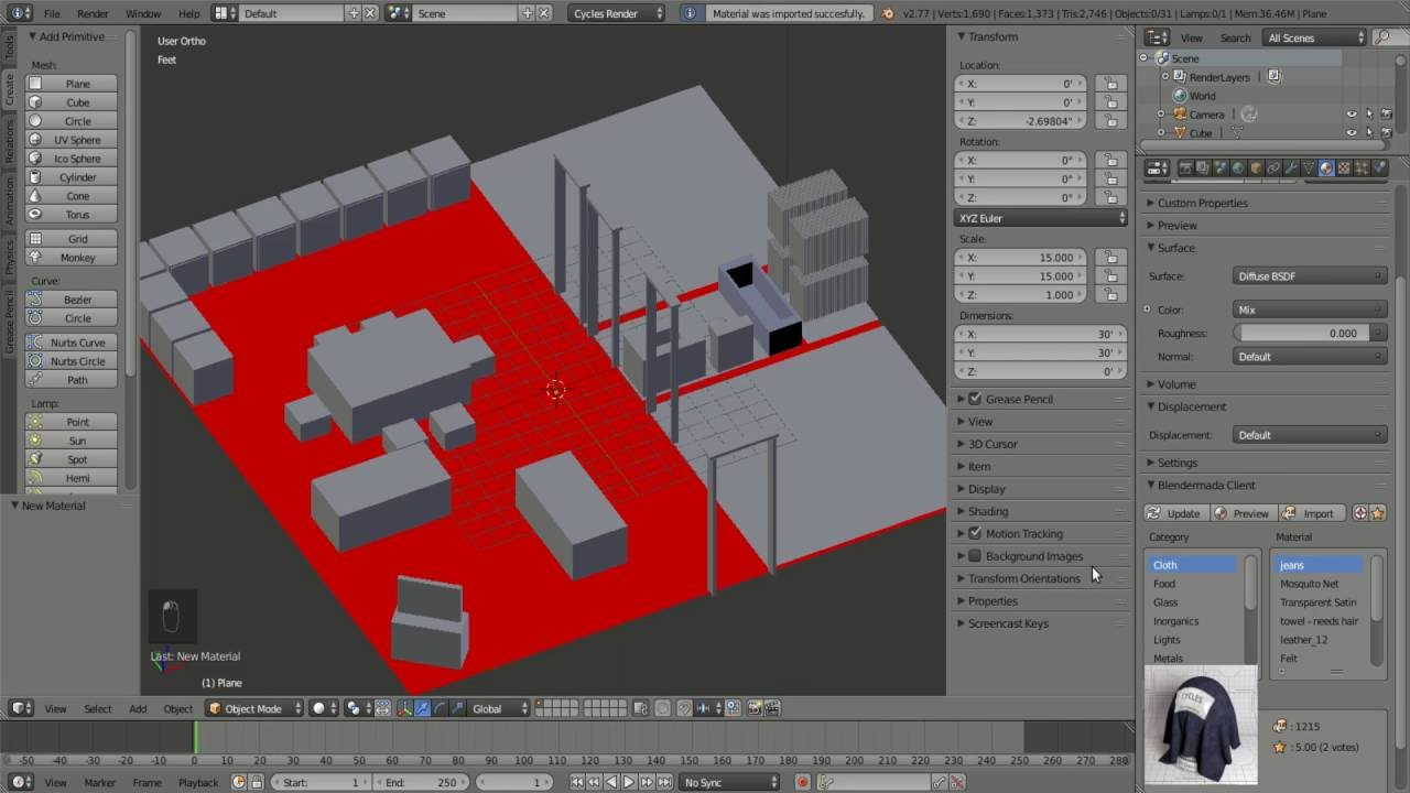 Blender for architecture tutorial: sunshine acrylo.