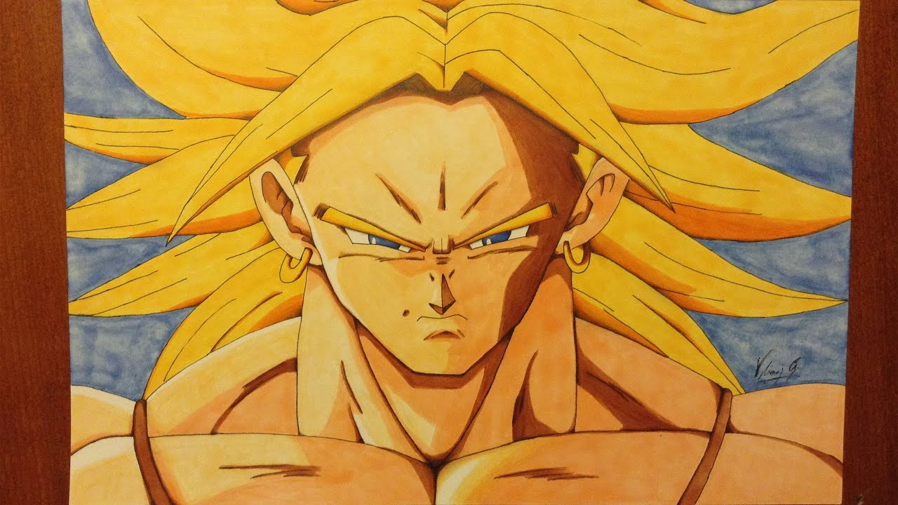 Disegno Drawing Di Broly Super Saiyan Dragon Ball Youtube