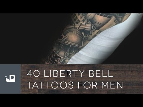 40 Liberty Bell Tattoos For Men