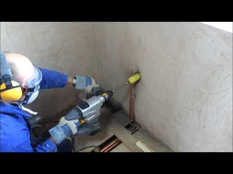 Titan SDS in use with a Diamond Core Drill for bathroom waste (TTB278SDS/TTB279SDS) HD