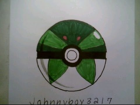 how to draw pokemon park ball pokeball go 3d easy step by