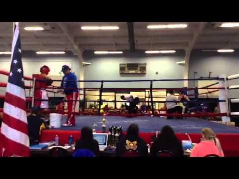 Garret Guinn Boxing at the Fort Worth Tournament