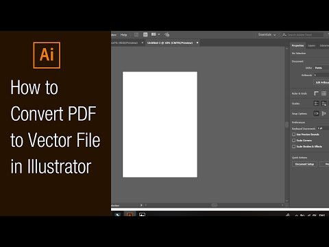 How To Convert PDF To Vector File In Illustrator