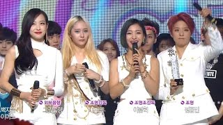 【TVPP】f(x) - Winner of week song, 에프엑스 - 음악중심 1위 소감! @ Show! Music Core Live