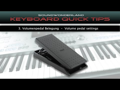 Volumenpedal Anpassung - Volume Pedal Adjustment - Keyboard Quick Tips Vol. 3