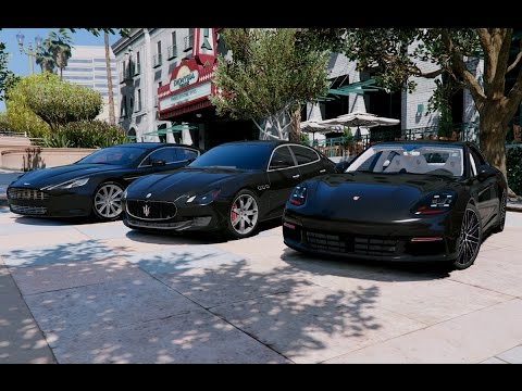 Gta V Porsche Panamera 4s 2017 Vs Aston Martin Rapide Vs Maserati Quattroporte Gts Gta 5 Mod Youtube