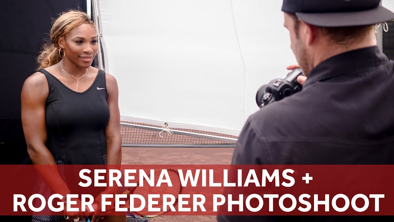Serena Williams + Roger Federer PHOTO SHOOT | ChaseJarvis RAW