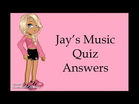Jay's Music Quiz Answers - Woozworld (22/12/17)