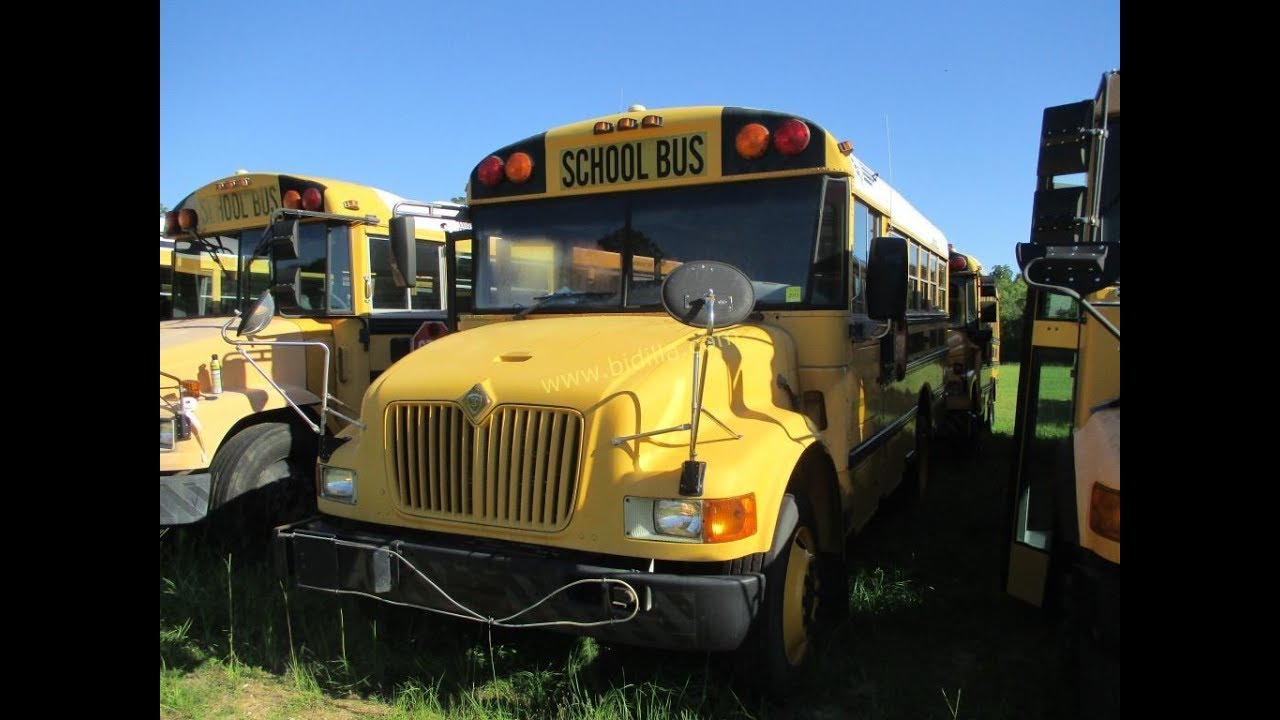 Public Online Auction 2003 Ic Corp School Bus International 3000