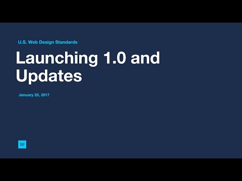 U.S. Web Design Standards Update
