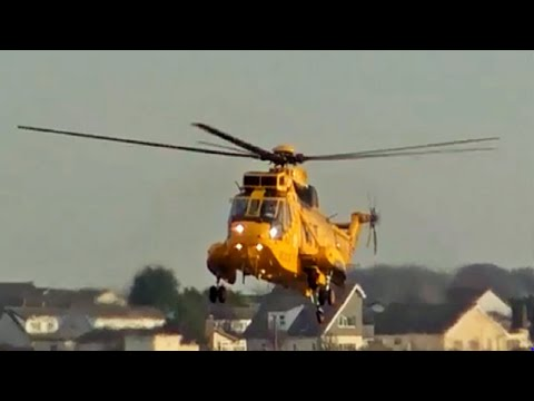 A True Classic! RAF Westland Sea king HAR3 XZ590@Blackpool Airport 16/12/12