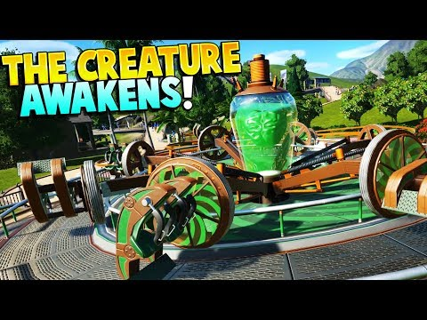Planet Coaster - THE CREATURE AWAKENS! 3 STARS! - Planet Coaster Gameplay - Building a Theme Park!