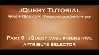 jQuery Case Insensitive Attribute Selector