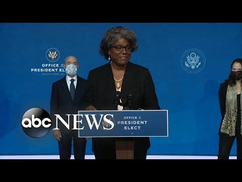 US Ambassador to the UN nominee Linda Thomas-Greenfield speaks