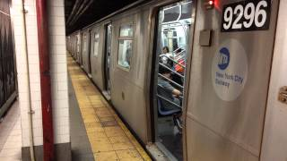 R160 Queens bound F train at Delancey St - Essex St