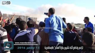 مصر العربية | تزاحم وتدافع أثناء تشييع جنازة
