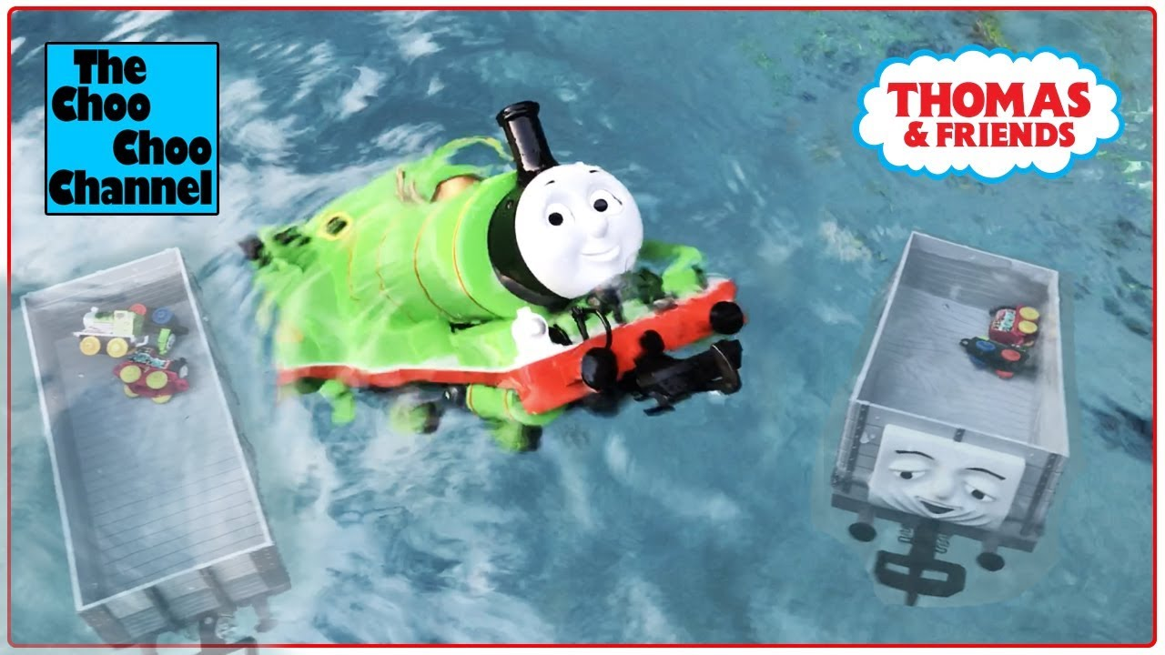HUGE CRASH! PERCY from THOMAS & FRIENDS Crashes into a pool with over 200 Thomas & Friends M