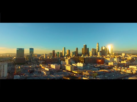 Los Angeles Downtown Drone Footage 2015   CinePRO
