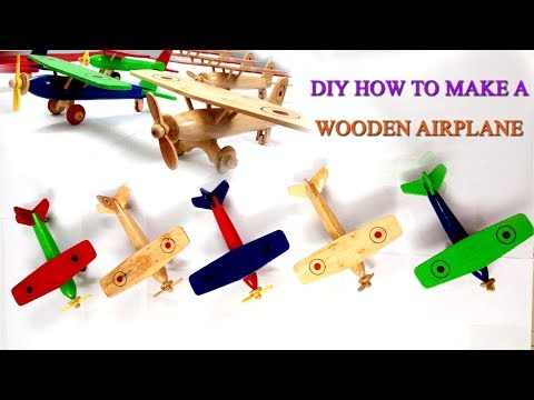 DIY HOW TO MAKE A WOODEN MODEL AIRPLANE /Aircraft/MINIATURE