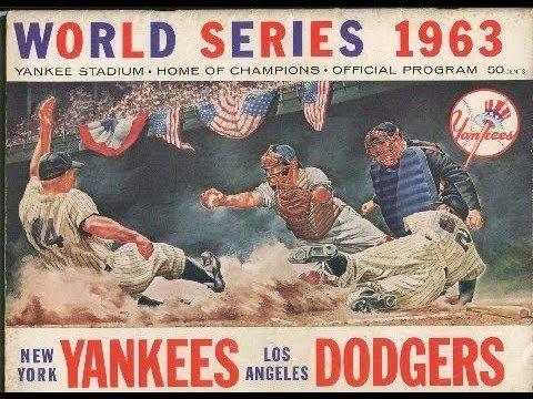 """LA DODGERS Sandy Koufax 1963 """"Sweep the Yanks!"""""""