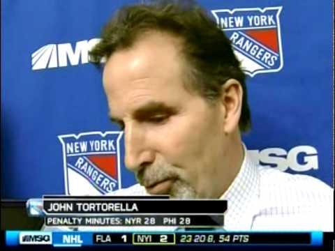 John Tortorella - Post Game - 1/21/10 - Rangers vs. Flyers