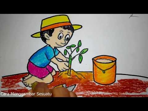 Paling Bagus 27+ Gambar Kartun Anak Sedang Menyiram Bunga ...