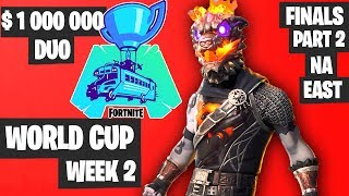Fortnite World Cup WEEK 2 Highlights - Final Part 2 NA East DUO [Fortnite Tournament 2019]