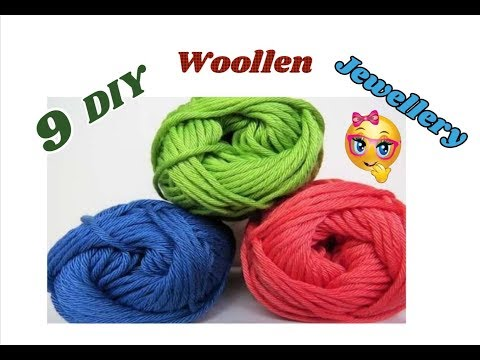 9 DIY woollen jewellery ideas | Making of jewellery with wool