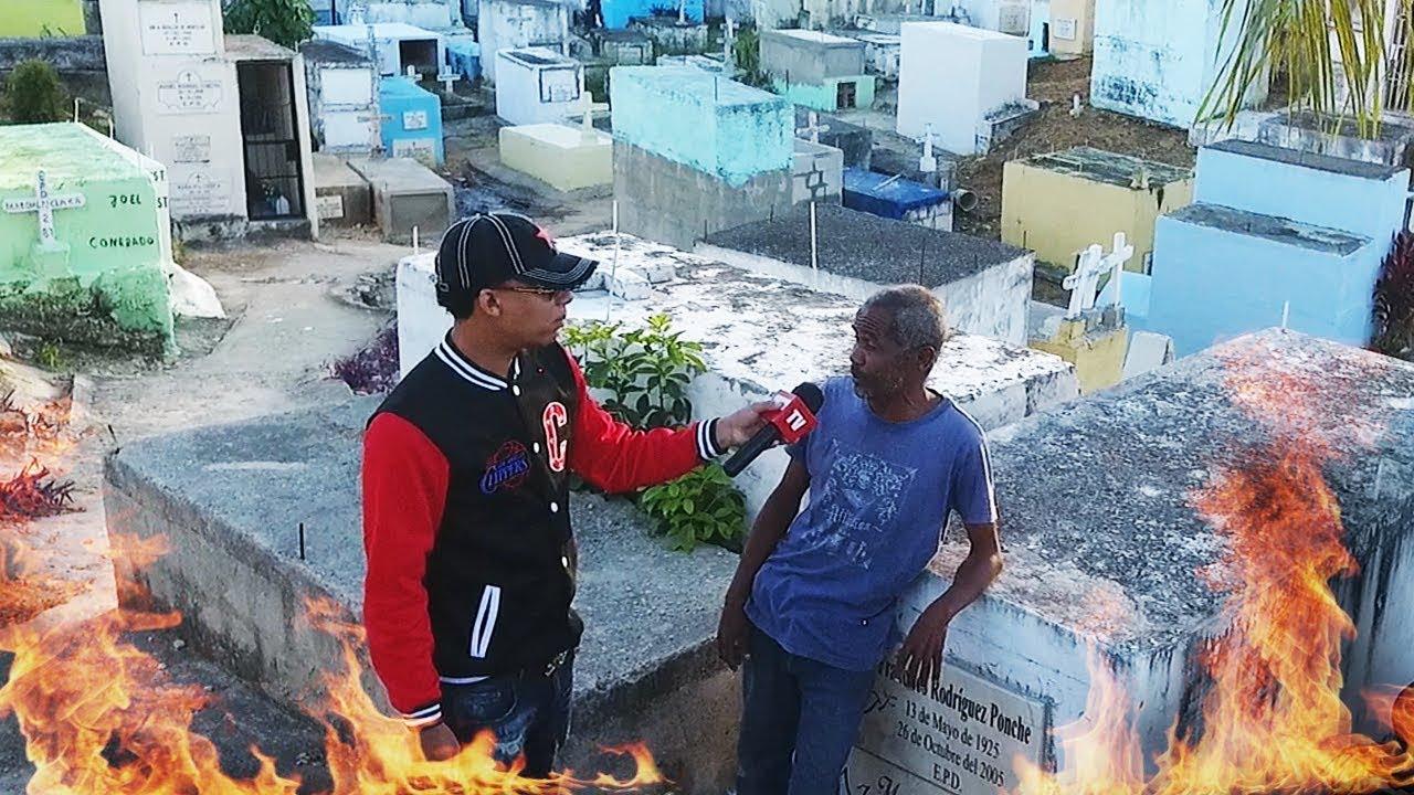 Dice quiere que las personas mueran para el poder comer y cuenta lo que ve cuidando el cementerio