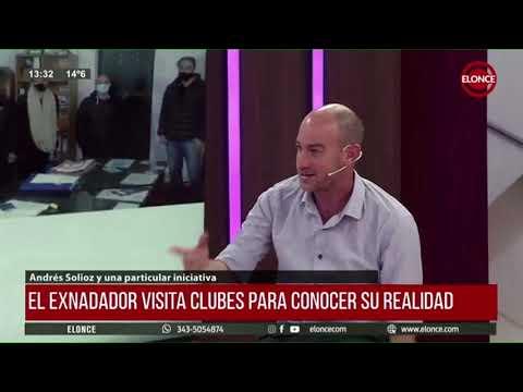 Andrés Solioz en El Pelotazo: organiza maratones acuáticas y escucha la voz de los clubes
