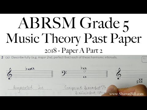 ABRSM Music Theory Grade 5 Past Paper 2018 A Part 2 With Sharon Bill