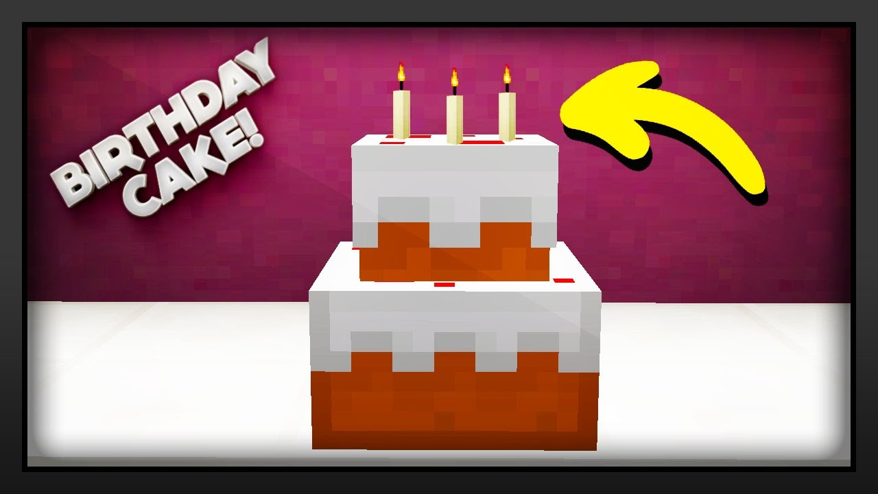 Minecraft How To Make A Birthday Cake Youtube