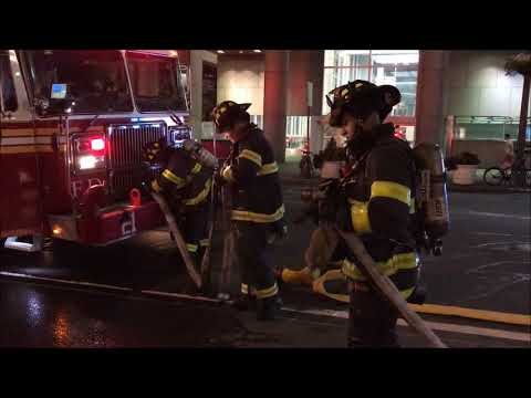 """FDNY OPERATING AT """"AFTERMATH"""" OF CAR FIRE ON E. 42ND ST. IN MIDTOWN, MANHATTAN, NYC."""
