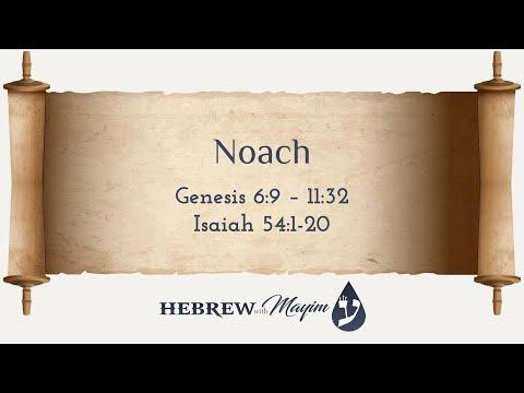 02 Noach, Aliyah 1, Troped 3 verses - Learn Biblical Hebrew