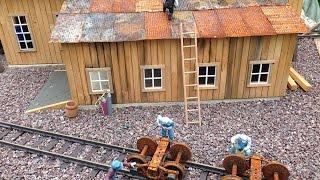 single track engine shed - Lokschuppen der LGB US Gartenbahn Jens Handro
