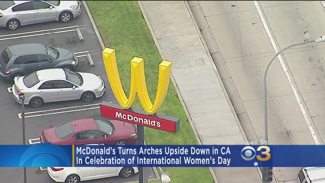 McDonald's Turns Arches Upside Down In Celebration Of Women's Day