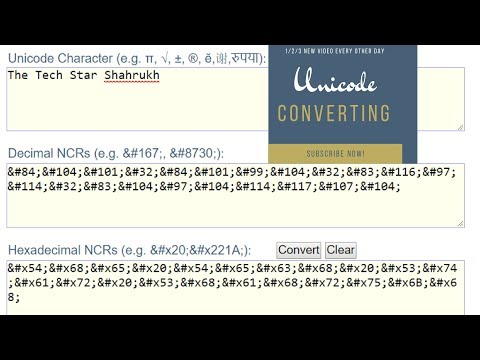 How To Decode Strings Unicode Characters & Convert To Hex Or Binary | Hindi -