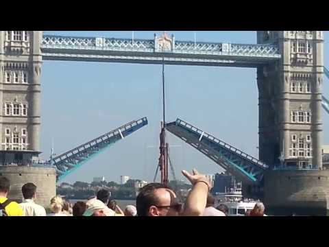 The Tower Bridge Opening and Closing, view from River Thames