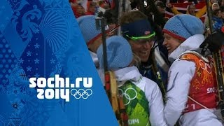Biathlon Mixed Relay - Norway Win Gold | Sochi 2014 Winter Olympics