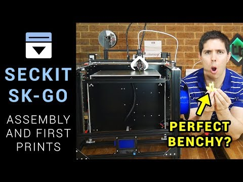 SecKit SK-GO assembly and test prints - CoreXY linear rail 3D printer thumbnail