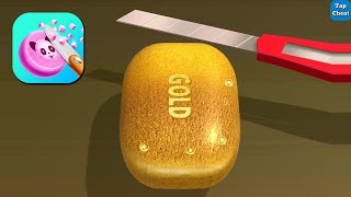Soap Cutting Game - Gameplay Walkthrough Part 1 - All Levels 1-19 (Android,iOS)